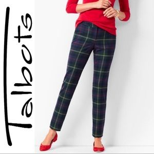 Plus Size Petite Talbots Plaid Straight Leg Ankle
